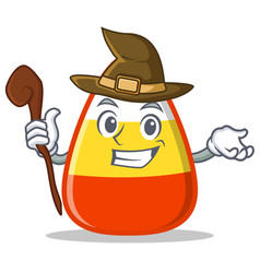 witch candy corn character cartoon vector image