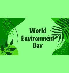 world environment day background ecologic vector image