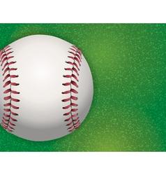 Baseball on Grass Field vector image vector image