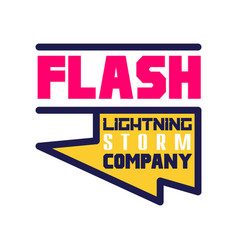 flash lightning storm company logo template vector image vector image
