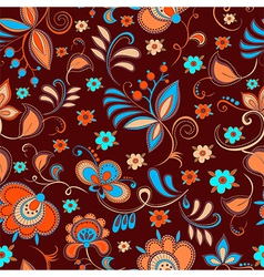 floral theme seamless pattern vector image