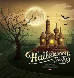 Happy Halloween party castles vector image