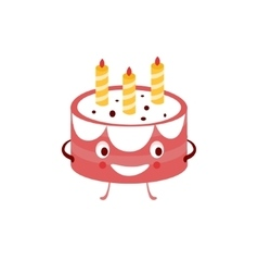 Humanized Cake Funny vector image vector image