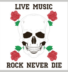 live music rock vector image vector image