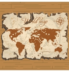 old parchament Treasure and world map vector image