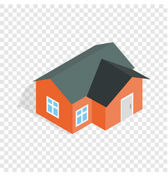 orange house isometric icon vector image vector image