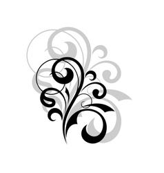 Ornate scrolling design element vector image