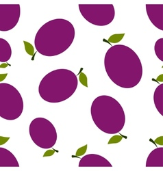Pattern Silhouette Plums vector image vector image