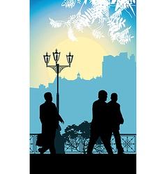Business walking vector image