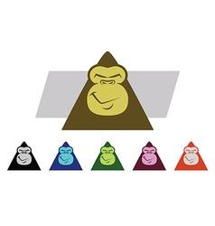 Gorilla Faces vector image vector image