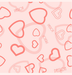 heart symbol passion text seamless pattern vector image vector image