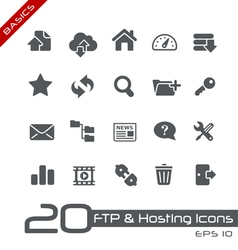 Hosting icons basics series vector