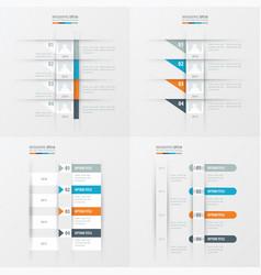 timeline design 4 item orange blue gray color vector image vector image