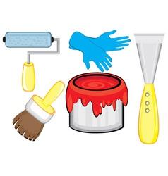 tools for diy repairs vector image