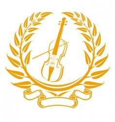violin symbol vector image vector image