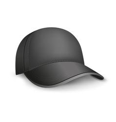 black cap vector image vector image