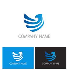eagle company logo vector image vector image