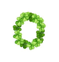 letter o clover ornament vector image