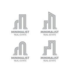 Minimalist Real estate logo design vector image