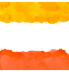 red and yellow watercolor vector image