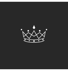 Royal symbol icon monogram crown logo beauty vector image