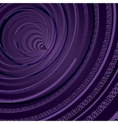 Abstract Technology Theme Binary Circle Background vector image