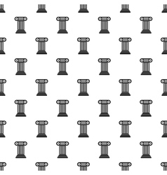 Ancient Ionic pillar pattern simple style vector image