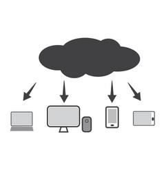 cloud technology icon web cloud technology vector image vector image