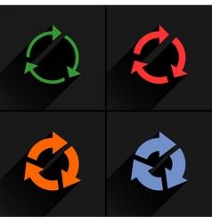 Color arrow reload refresh reset repeat icon vector