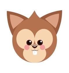 Cute baby chipmunk cartoon vector image