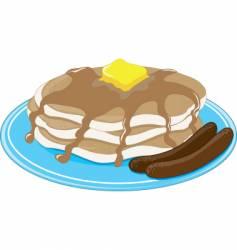 Pancakes sausage vector