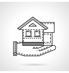 Rental house line icon vector image vector image
