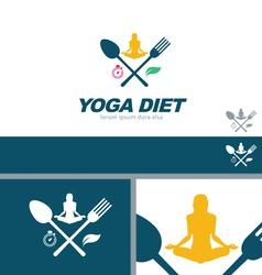 Yoga Diet Wellness Health Concept Design Element vector image
