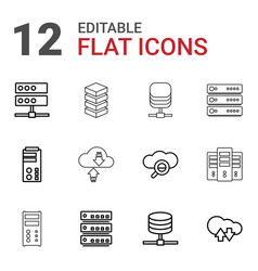 12 database icons vector