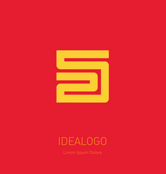 25 - logo or design element or icon with numbers vector image