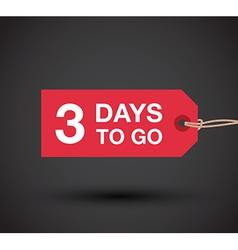 3 day left sale vector image