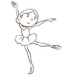 A plain drawing of a ballerina vector image