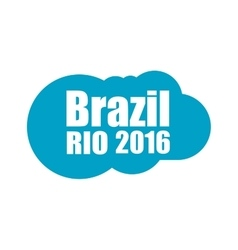 Abstract cloud with the inscription Brazil Rio vector image