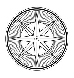 Abstract geometric symbol compass logo design vector