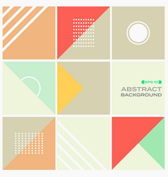 abstract of colorful stylish geometric pattern vector image