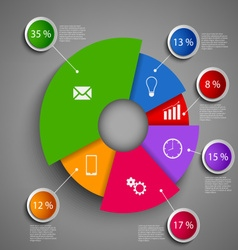 Abstract round info graphic design template vector