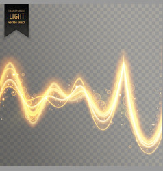 abstract transparent light effect in sound wave vector image