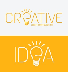 Alphabet design creative idea concept with flat vector