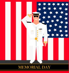 american military officer salutes vector image