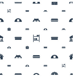 Barn icons pattern seamless white background vector