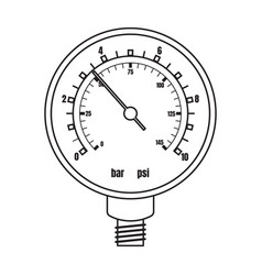 barometer iconoutline icon isolated vector image