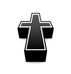 Black cross vector image