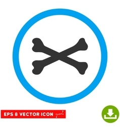 Bones Cross Eps Rounded Icon vector