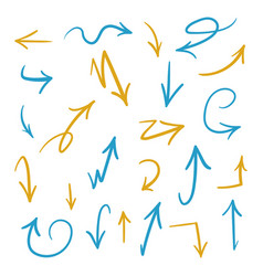 brush arrows vector image