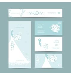 Business cards design weddign concept vector